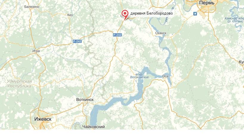 Белобородово карта
